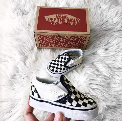 Vans Authentic Checkers Slip-ons