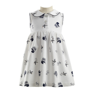 Rachel Riley Pram Print Jersey Dress