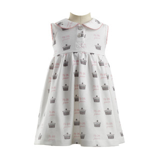 Rachel Riley Princess Crown Print Jersey Dress