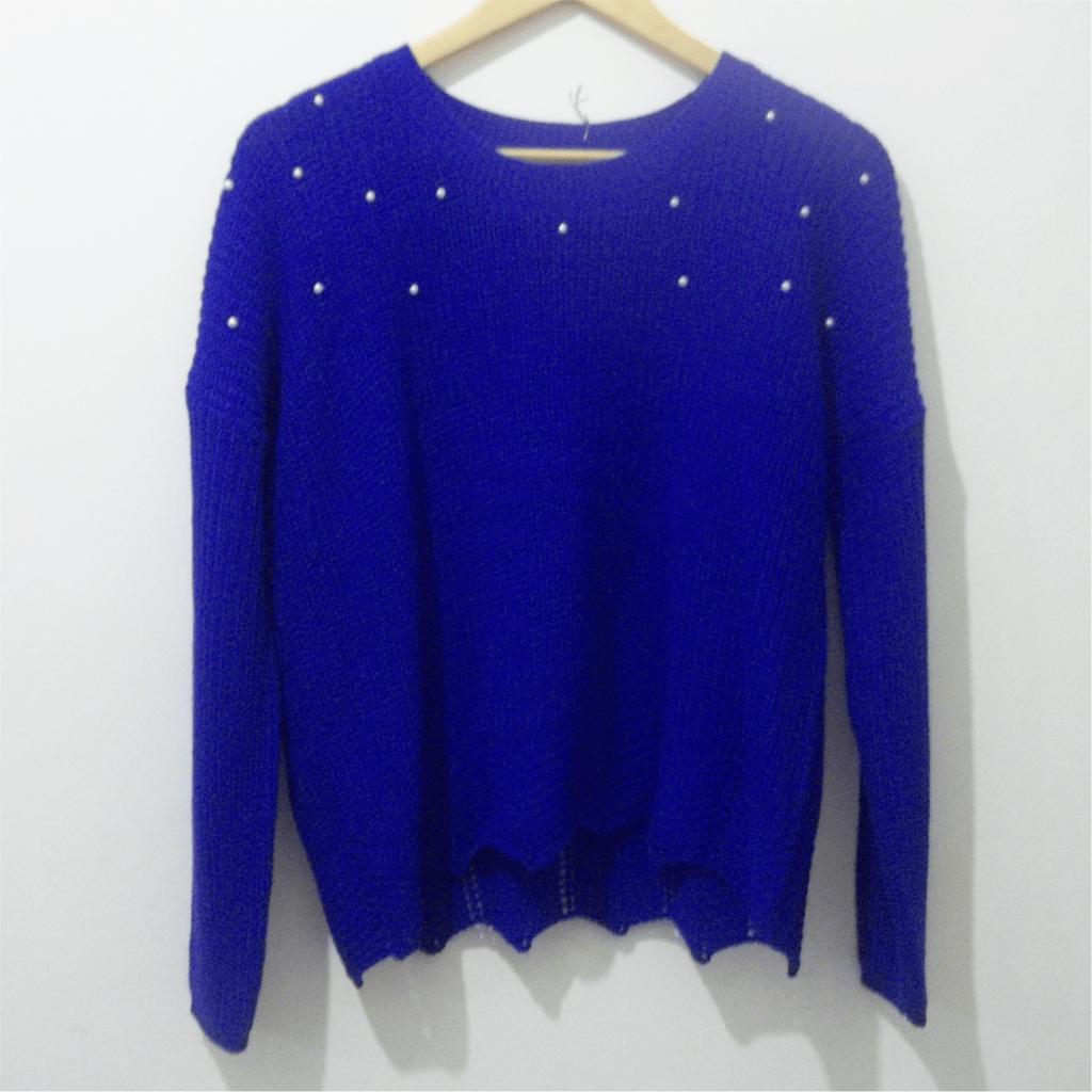 Sweater con perlas