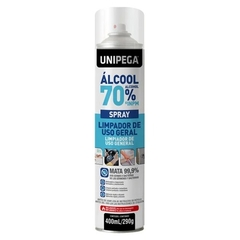 Kit 06 un Álcool 70% Spray Higienizador Antisséptico 400ml