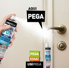 Kit 05 un Álcool 70% Spray Higienizador Antisséptico 400ml na internet