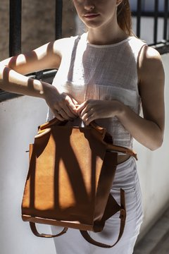 Geometric Backpack Small 2 Suela