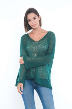 SWEATER LOLOG VERDE BOTELLA