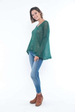 SWEATER LOLOG VERDE BOTELLA en internet