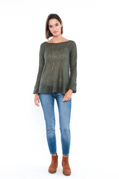Sweater Casis verde en internet