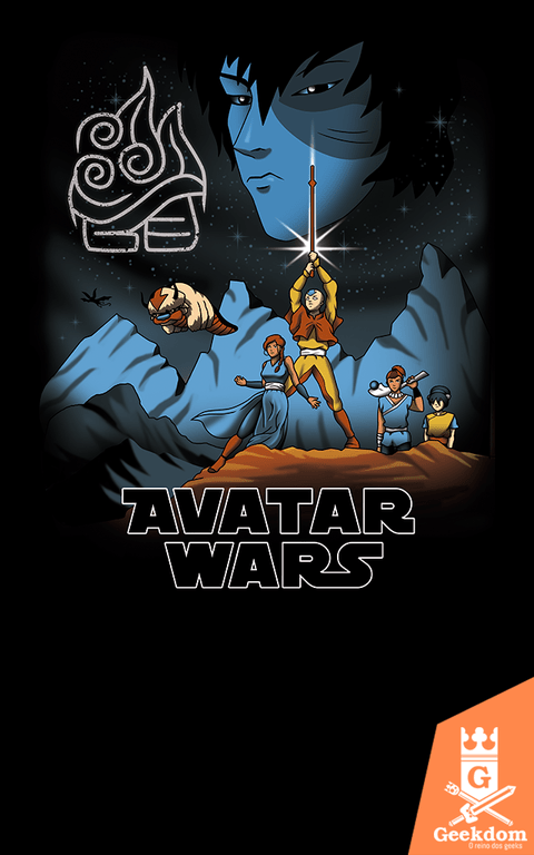 Camiseta Avatar Wars - by Vincent Trinidad Art