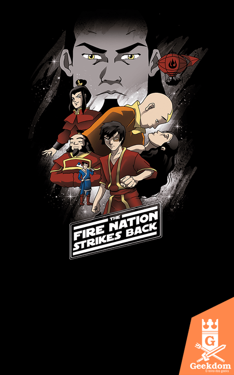 Camiseta Avatar Wars - Nação do Fogo Contra-Ataca - by Vincent Trinidad Art