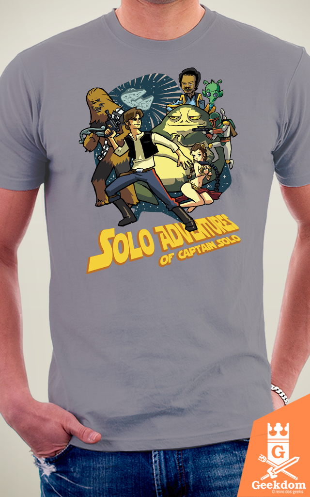 Camiseta Aventuras do Capitão Solo - by HugoHugo na internet