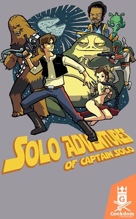 Camiseta Aventuras do Capitão Solo - by HugoHugo
