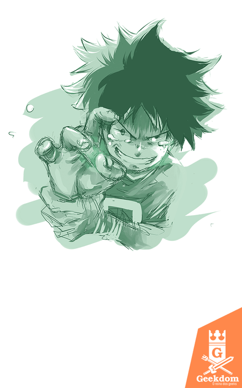 Camiseta Boku no Hero Academia - Deku Sketch - by PsychoDelicia