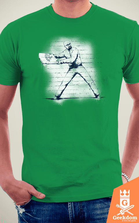 Camiseta Breaking Bad - Atirador de Pizza - by Pigboom na internet