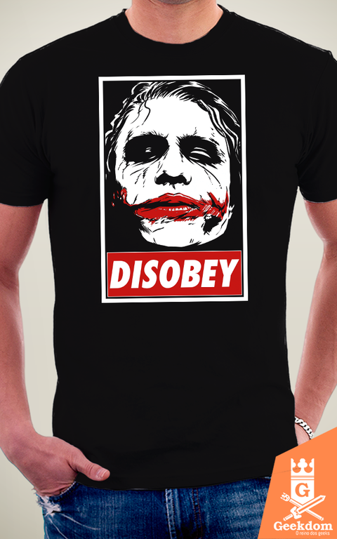 Camiseta Coringa - Chaos and Disobey - by Ddjvigo - loja online