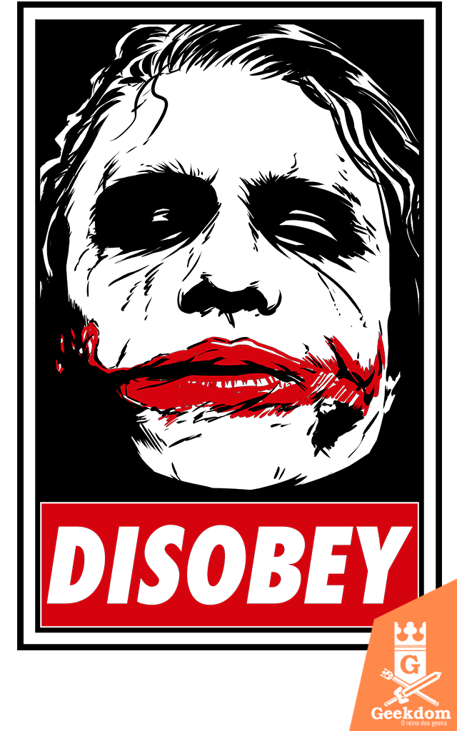 Camiseta Coringa - Chaos and Disobey - by Ddjvigo