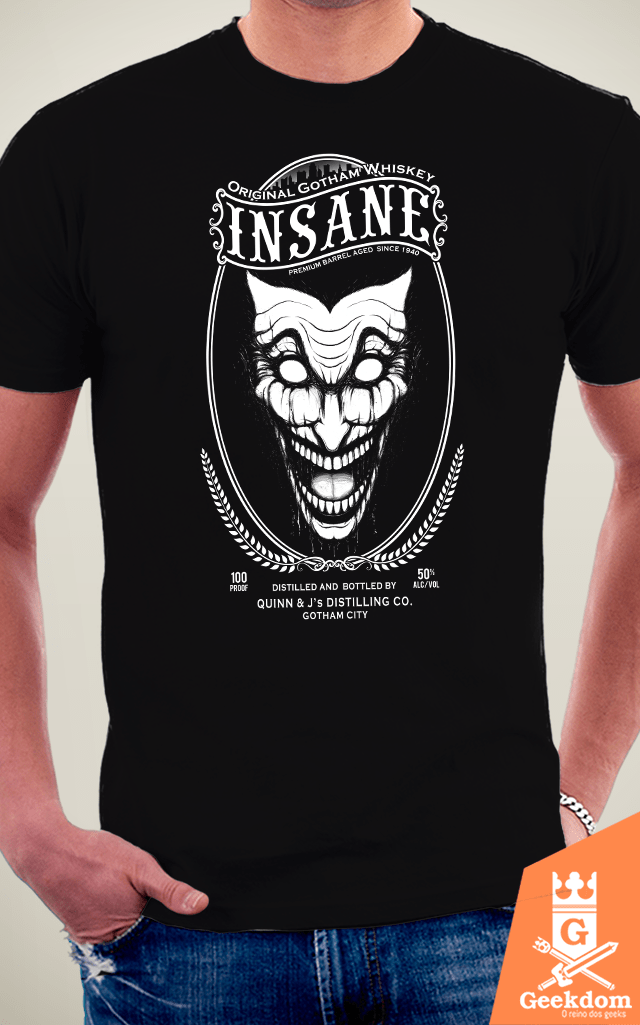 Camiseta Coringa - Insane Whisky - by Pigboom | Geekdom Store | www.geekdomstore.com