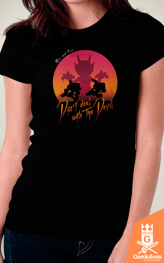 Camiseta Cuphead - Don't Deal With the Devil - by Ddjvigo | Geekdom Store | www.geekdomstore.com