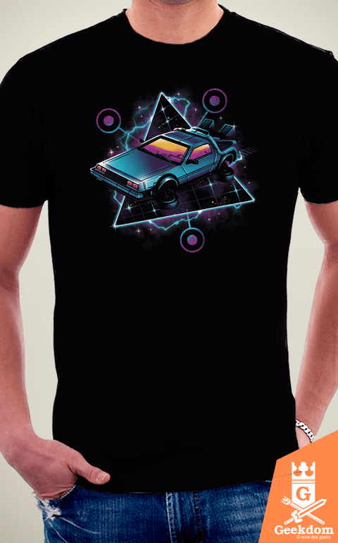 Camiseta De Volta Para o Futuro - Máquina do Tempo Retrô - by Vincent Trinidad Art na internet