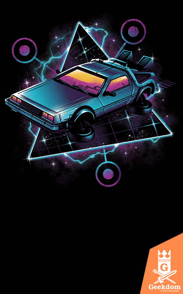 Camiseta De Volta Para o Futuro - Máquina do Tempo Retrô - by Vincent Trinidad Art