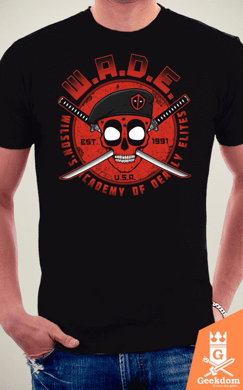 Camiseta Deadpool - Academia WADE - by Pigboom na internet