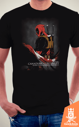 Camiseta Deadpool - Mercenário Canadense - by Pigboom na internet