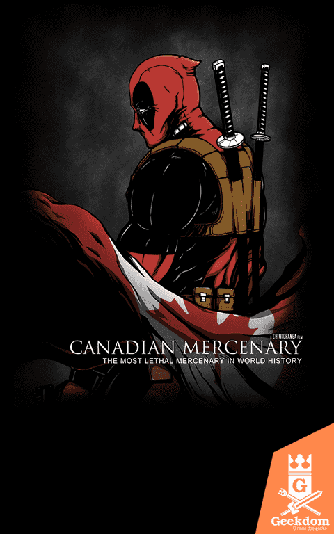 Camiseta Deadpool - Mercenário Canadense - by Pigboom