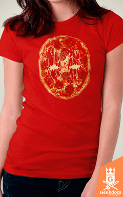 Camiseta Deadpool - Pizza Face - by RicoMambo | Geekdom Store | www.geekdomstore.com