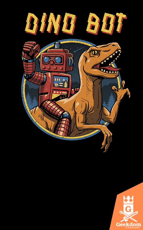 Camiseta Dino Bot - by Vincent Trinidad Art