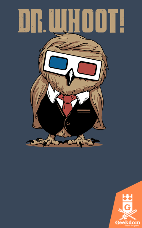 Camiseta Doctor Who - Dr. Whoot! - by Vincent Trinidad Art