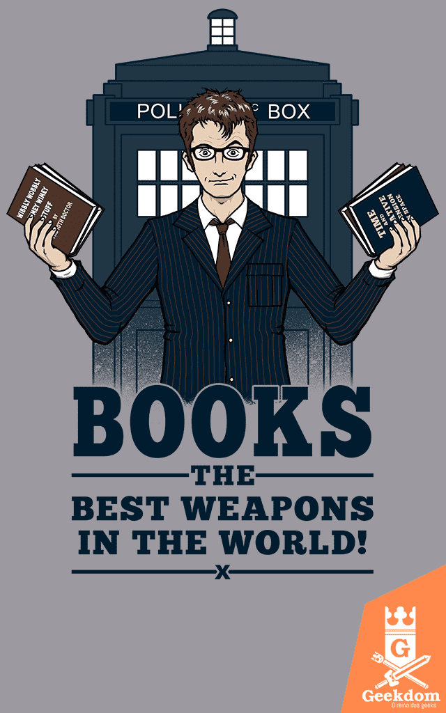 Camiseta Doctor Who - Livros - by Pigboom