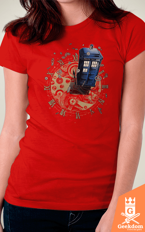Camiseta Doctor Who - Vigie o Tempo - by RicoMambo | Geekdom Store | www.geekdomstore.com