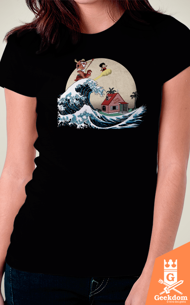 Camiseta Dragon Ball - A Onda do Kame - by Ddjvigo | Geekdom Store | www.geekdomstore.com
