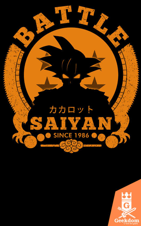 Camiseta Dragon Ball - Batalha Saiyajin - by Pigboom