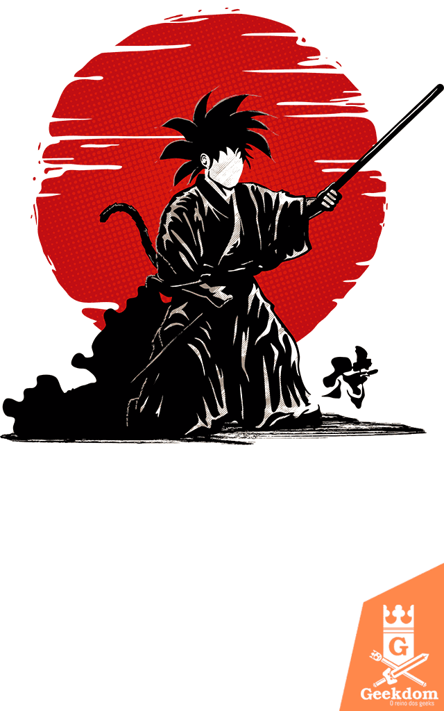 Camiseta Dragon Ball - Goku Samurai - by Le Duc