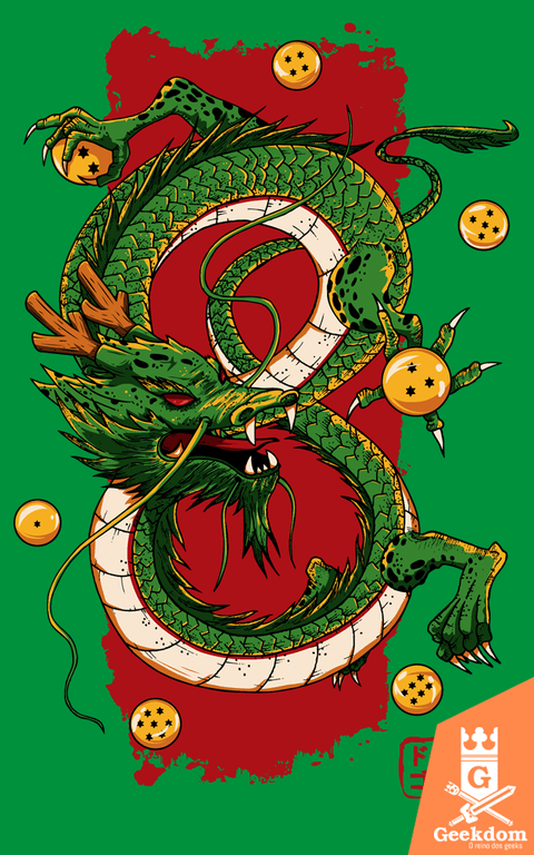 Camiseta Dragon Ball - Shenlong - by Le Duc