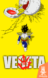 Camiseta Dragon Ball - Vegeta e o Pod - by Ddjvigo