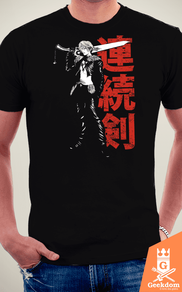 Camiseta Final Fantasy - O Cara e a Gunblade - by Ddjvigo na internet