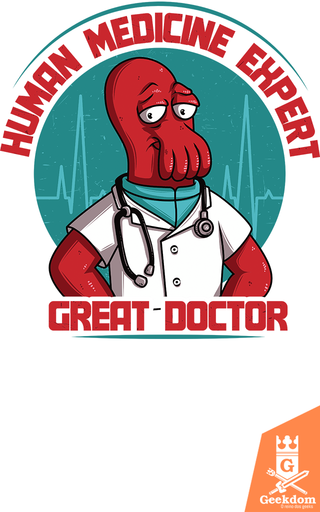 Camiseta Futurama - Doutor Especialista - by Le Duc