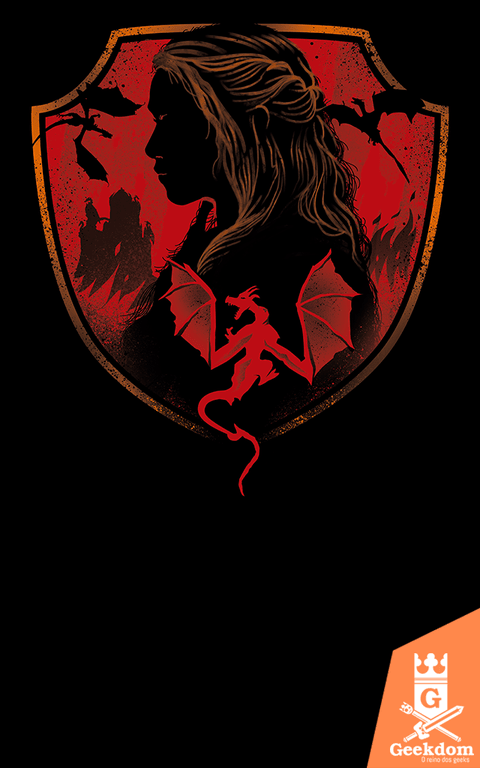 Camiseta Game of Thrones - Casa dos Dragões - by Vincent Trinidad Art
