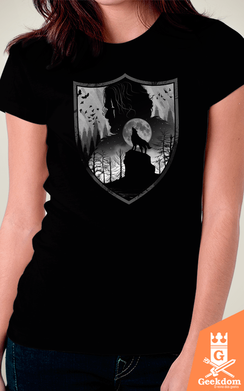 Camiseta Game of Thrones - Casa dos Lobos - by Vincent Trinidad Art | Geekdom Store | www.geekdomstore.com