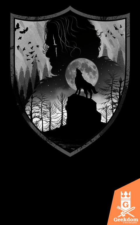 Camiseta Game of Thrones - Casa dos Lobos - by Vincent Trinidad Art