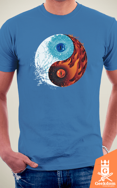 Camiseta Game of Thrones - Gelo e Fogo - by RicoMambo | Geekdom Store | www.geekdomstore.com