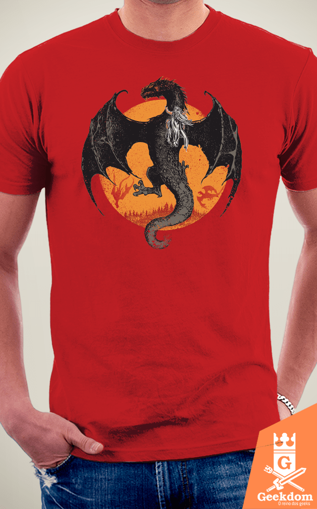 Camiseta Game of Thrones - Montando o Dragão - by RicoMambo | Geekdom Store | www.geekdomstore.com