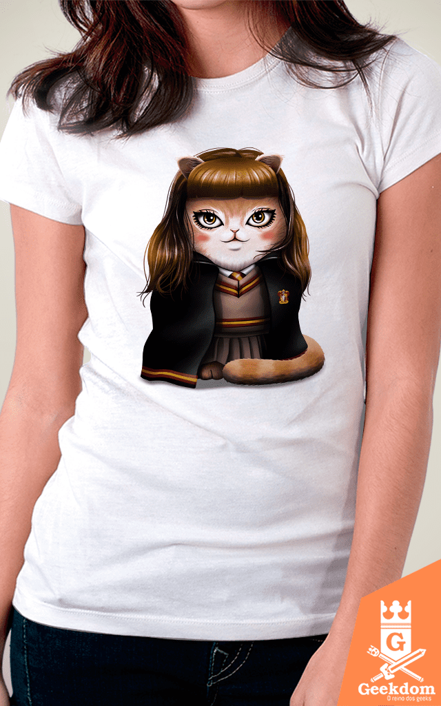 Camiseta Harry Potter - Hermeowne Granger - by Vincent Trinidad Art | Geekdom Store | www.geekdomstore.com