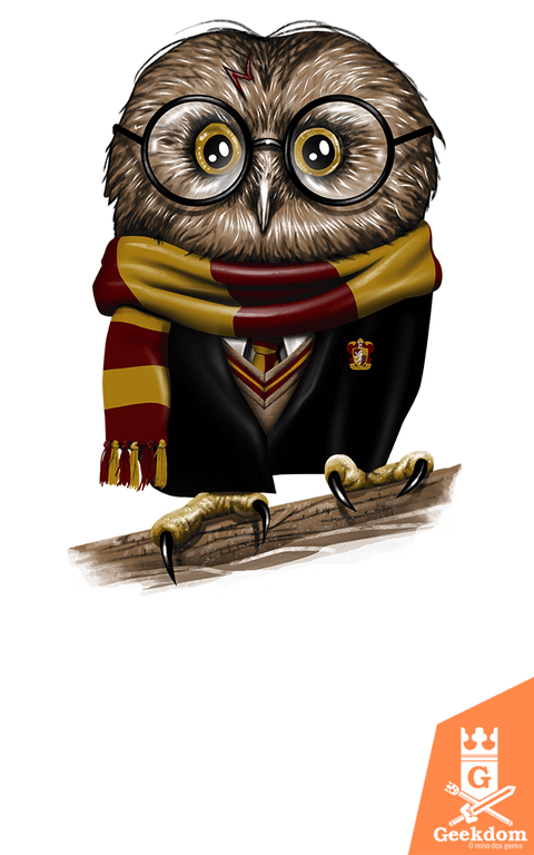 Camiseta Harry Potter - Owly Potter - by Vincent Trinidad Art