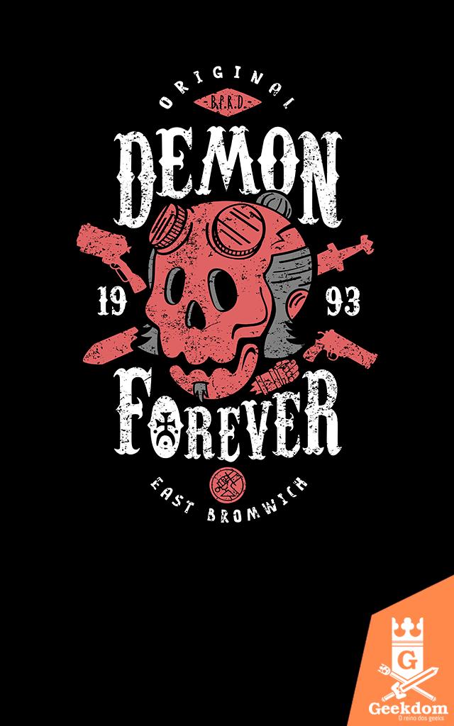 Camiseta Hellboy - Demônio Para Sempre - by Olipop b9f73be0d9fa