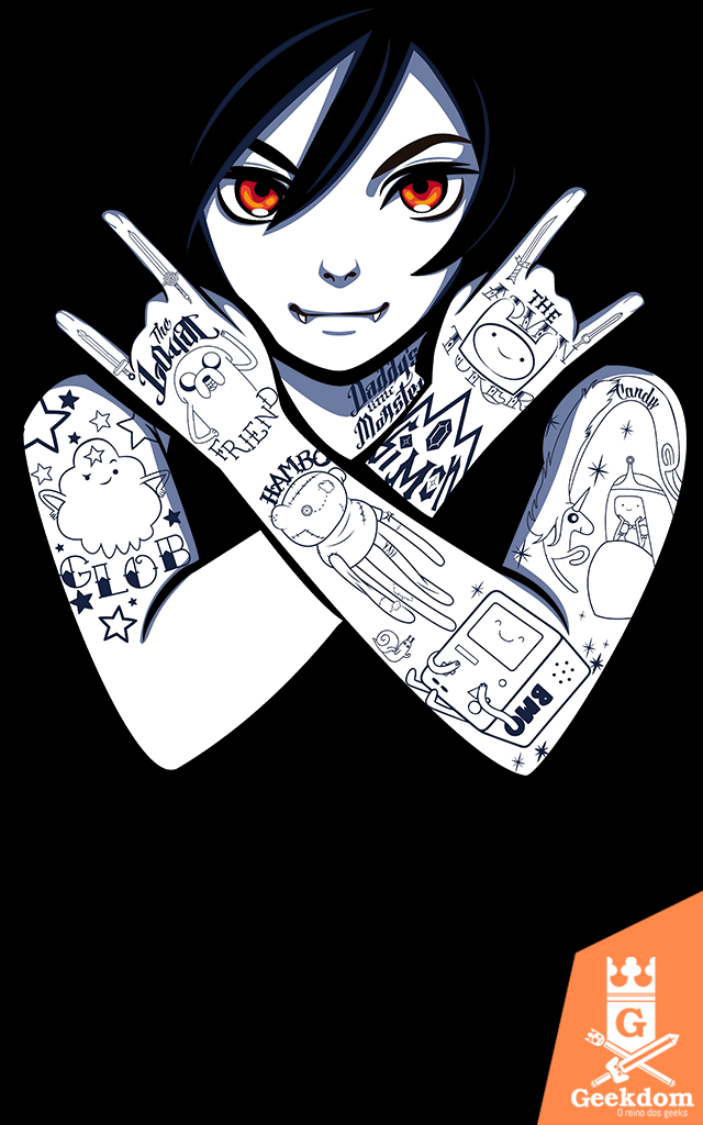 Camiseta Hora de Aventura - Rock Marcy - by H. Heal
