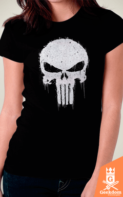 Camiseta Justiceiro - Caveira - by Piccolo | Geekdom Store | www.geekdomstore.com