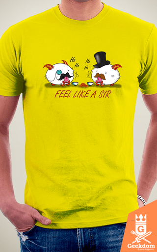 Camiseta League of Legends - Poro Like a Sir - by PsychoDelicia | Geekdom Store | www.geekdomstore.com