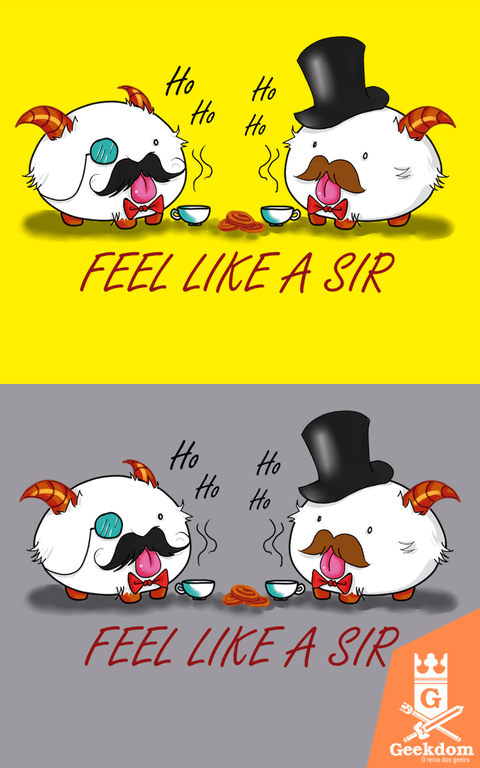 Camiseta League of Legends - Poro Like a Sir - by PsychoDelicia