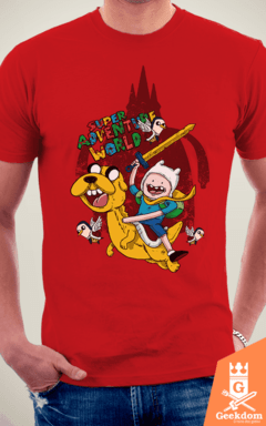 Camiseta Super Adventure World - by Cardosonot | www.geekdomstore.com